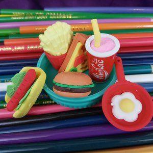 🌈 4/$20 Fast Food Erasers